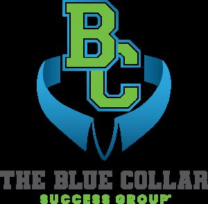 Blue Collar Alternate Logo Green Vertical